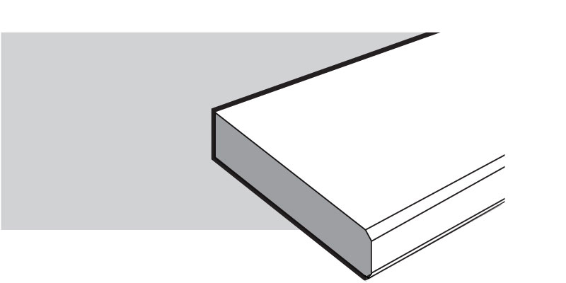 Square Polished (Double Bevel)